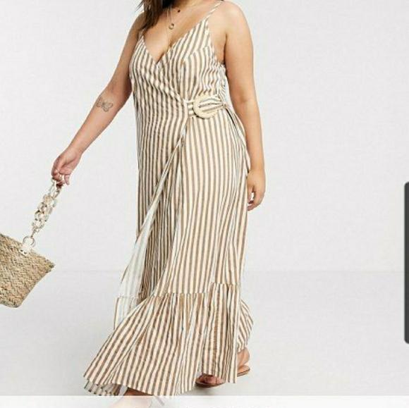 Asos Linen Maxi Wrap Dress